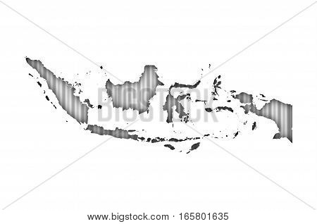 Map Of Indonesia On Corrugated Iron