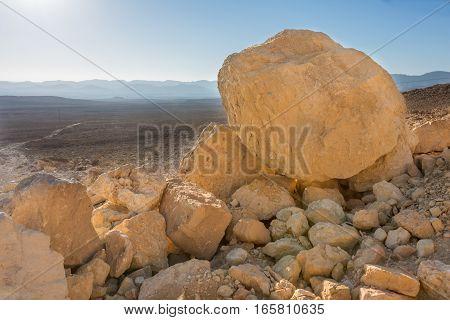 Rocks In The Negev Desert, Southern Israel