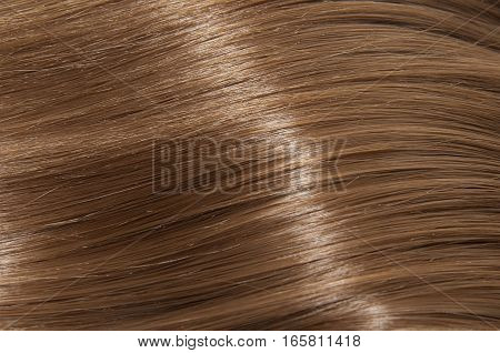 Long brown straight hair, wellness and hair care concept