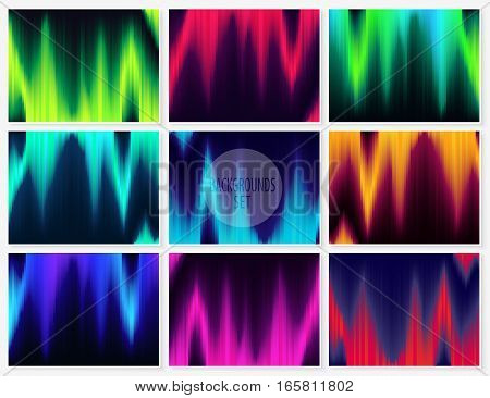 Graphic Lines Glitch Backgrounds Set Abstract Textures 2