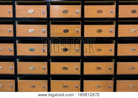 Locker MailBoxes postal for keep your information bills postcard mails condominium mailbox regulations