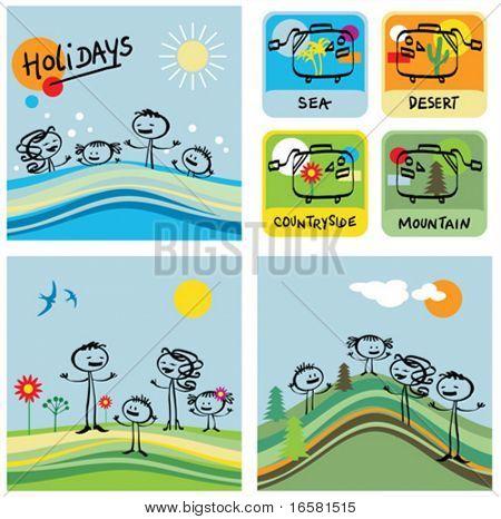 Vacaciones y familia