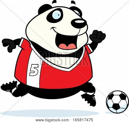 Cartoon Panda Soccer