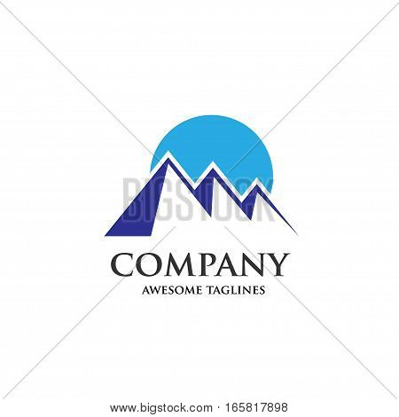 Mountains vector concept ,Mountain Expedition . Tourism Vector template