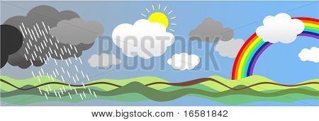 weather - rain,sun,rainbow