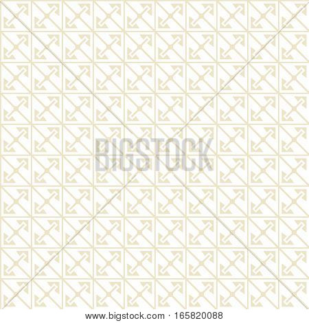 Seamless geometric light yellow pattern. Swatch is included in vector file. Transparent background.