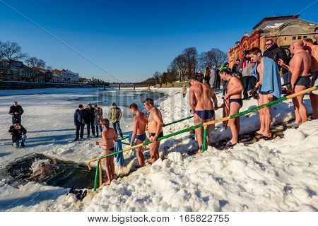 Ice Swimming On Epiphany Day