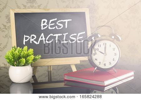 Best Practise on blackboard with clock and flare