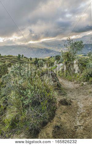 Dirty Road Quilotoa, Latacunga, Ecuador