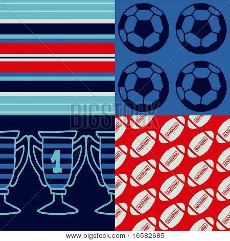 Pop-art seamless pattern - sports - -