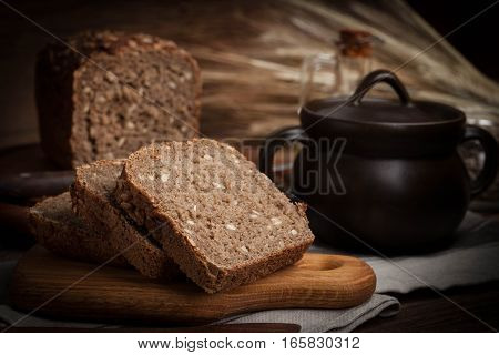 Wholemeal Bread With Sunflower Seeds.