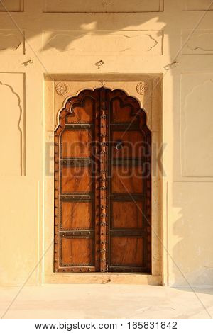 Old Style Indian Antique Door in Rajasthan, India