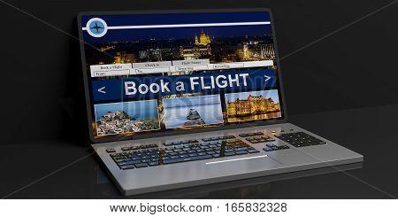 3D Rendering Flight Online Reservation