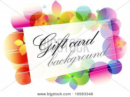 Background With Greeting Card