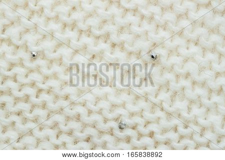 Abstract White knitted Wool horizontal background. Wool soft fluffy texture