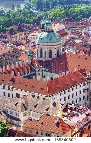 St Nikolas church one of the most important buildings of baroque Prague with a dominant dome and belfry