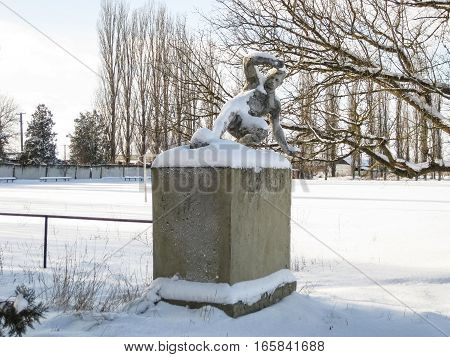 Monument To The Football Player