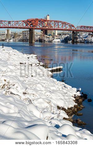 Deep Snow And Broadway Bridge
