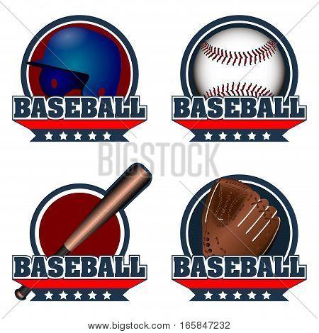 Set Of Baseball Emblems