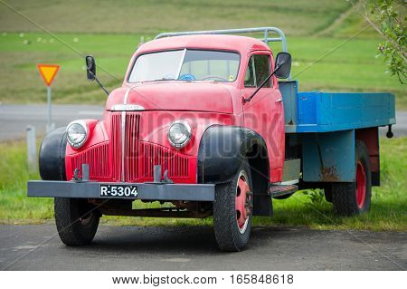 CELAND - AUG 29, 2015: Studebaker M16 52A truck. Studebaker (1852-1967) was an American wagon and automobile manufacturer based in South Bend, Indiana.