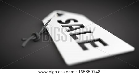 3D Illustration Of Lable With Word Sale On Black Background