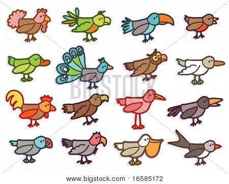 birds - colors