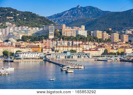 Ajaccio City Port. Corsica Island, France