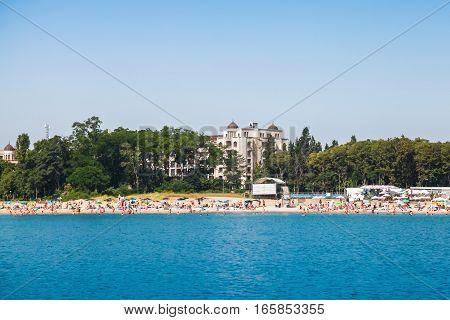 Beach. Black Sea Coast, Burgas, Bulgaria
