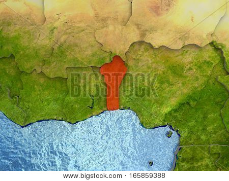 Benin In Red