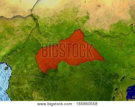 Central Africa In Red