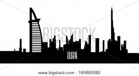 Isolated Silhouette Of Dubai
