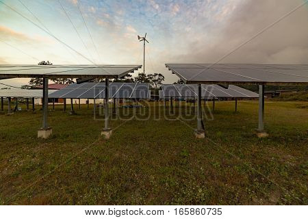 Solar cell park clean electricity for furture living