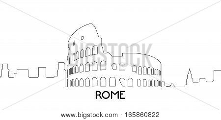 Isolated Outline Of Rome