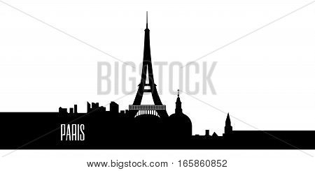 Isolated Silhouette Of Paris