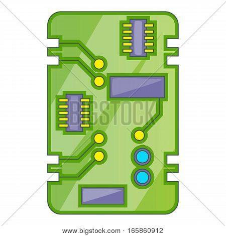 Phone circuit board icon. Cartoon illustration of phone circuit board vector icon for web design