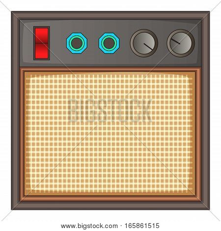 Guitar amplifier icon. Cartoon illustration of guitar amplifier vector icon for web design