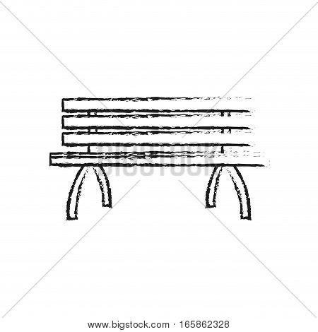park bench icon over white background. vector illustration