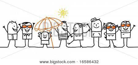 groep en de zomer vakantie