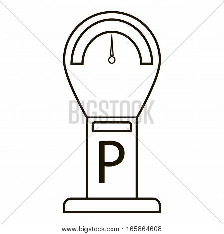 Parking time icon. Outline illustration of parking time vector icon for web