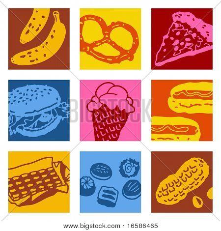 pop-art objects - food poster