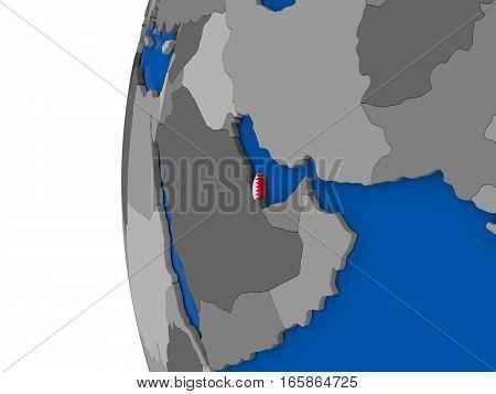 Qatar On Globe