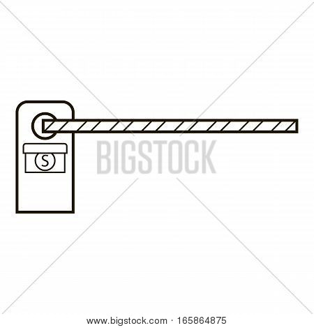 Barrier icon. Outline illustration of barrier vector icon for web