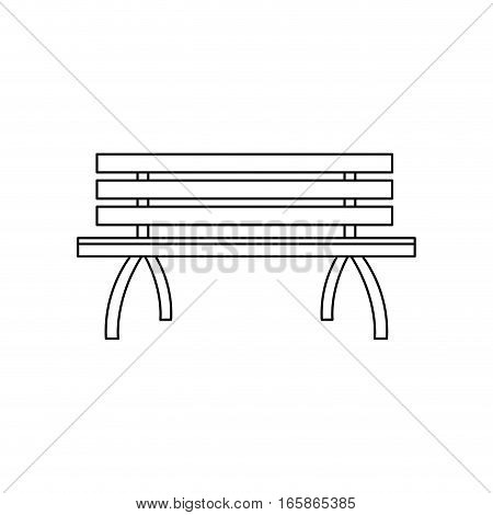park bench icon over white background. vector illustration