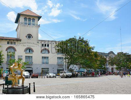 HAVANA CUBA - JULY 21 2016: Terminal Sierra Maestra cruise terminal Avenida del Puerto Old Havana (La Habana Vieja) Cuba.