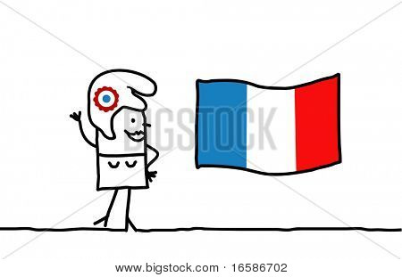 Marianne and France flag