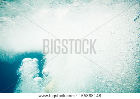 Underwater shot of water bubbles, good as texture.