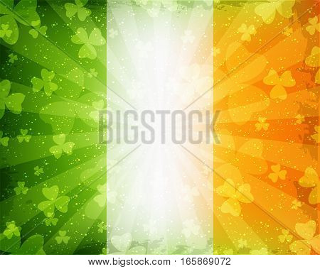 Abstract green and orange background for St. Patrick's Day