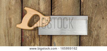Tenon Saw On Wood