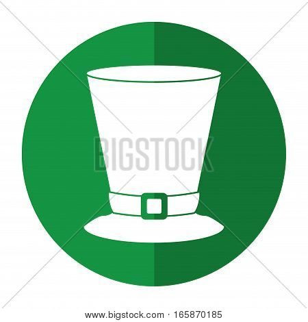 top hat saint patrick day symbol shadow vector illustration eps 10