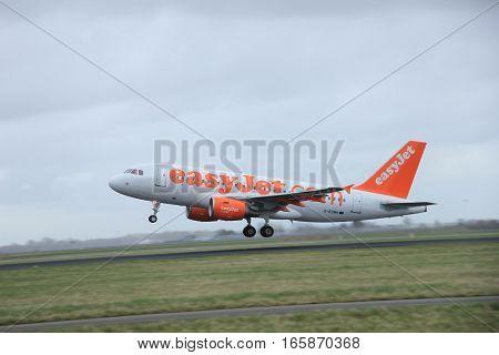 March 27th 2015 Amsterdam Schiphol Airport G-EZMH easyJet Airbus A319-111 Polderbaan Runway